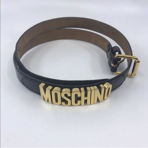 Moschino Brown Patent Leather Belt
